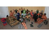 Action Men and Warrior Figures with Tank