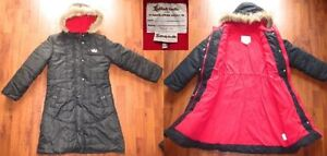 **Girls Long Winter Coat & Snowpants Size 10-12 in EUC  Long win