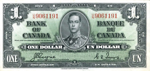 1937 Bank Of Canada Bills