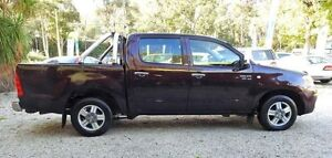 2006 Toyota Hilux GGN15R MY05 SR5 Burgundy 5 Speed Automatic 4D UTILITY Upper Ferntree Gully Knox Area Preview