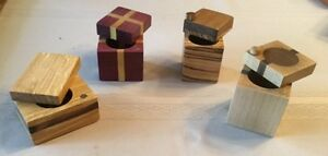 Ring or Earring Wood Boxes