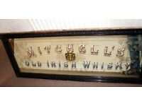 WANTED:antique pub mirrors and enamel signs , also antiques