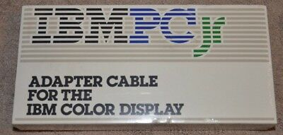 IBM PC Jr junior adapter cable for the IBM color display new sealed vintage for sale  Shipping to Canada