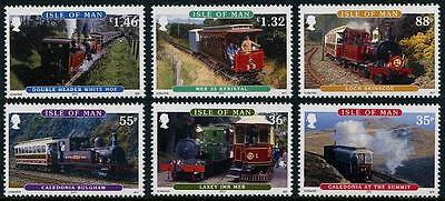 Isle of Man Railways set of 6 stamps mnh 2010 trains