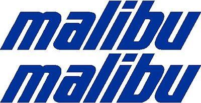 9  Custom Malibu   Boat Decal Sticker   Pair   L  K