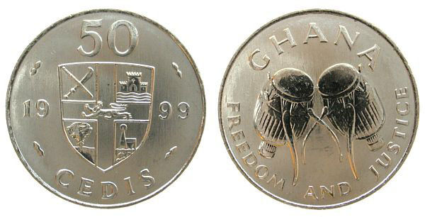 Ghana 1999 50 Cedi Uncirculated (KM31a)