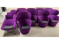 Purple High Back Tube Chair, Reception – Breakout Furniture