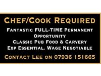 Chef/ cook required Full time. Newquay. Must have experience