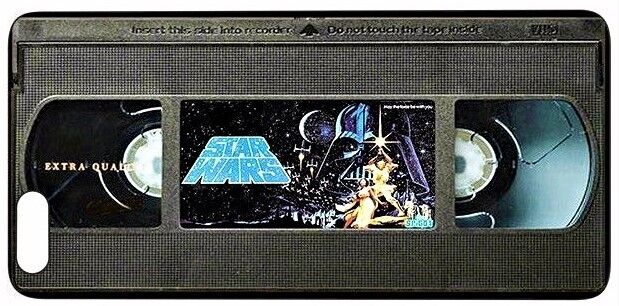 $9.99 - Vintage Star Wars VHS Tape Silicone Quality case (iPhone 5,5S,SE,6,6S,7,8)
