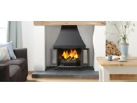 Wood Burner. Log Burner Stove. Dovre 1800. Open Doors or closed.Half Price.
