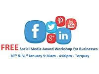 100% FREE SOCIAL MEDIA WORKSHOP FOR DEVON BUSINESSES - 30TH & 31ST JANUARY - IMPROVE YOUR BUSINESS