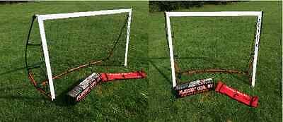 2 PACK  6 x 4 Flexnet Portable Soccer Goal Quik Set Up & Take Down (2 NETS)