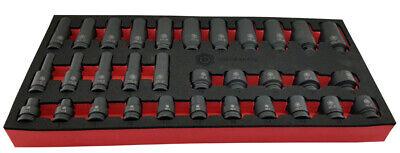 "Britool Hallmark MSDPSET32 32 Pce 3/8"" Dr. Std & Deep Impact Socket Set 7 - 22mm"