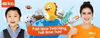 make $1000-$2000 per month teaching English online.