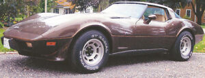 SAFETY CERTIFIED 1979 Corvette with T-BAR roof, ONLY 49,000 km.