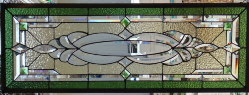 Stained Glass window Transom hanging 38 1/4 X 14