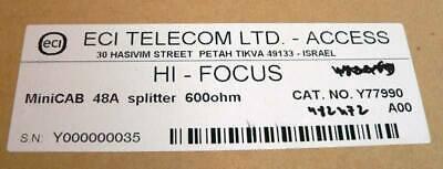 ECI Telecom LTD HI-FOCUS - MiniCAB 48A Splitter 600 Ohm - NEU - OVP - 6