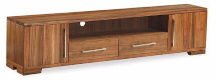 """2 Drawer """"Clifford"""" 220cm Large Entertainment TV Unit with Doors"""