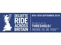 Ride Across Britain Entry 8th to 16th September 2018
