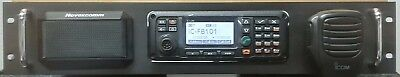 RACK MOUNT 2U FOR ICOM F7101 OR F8101 WITH SPEAKER, MIKE CLIP & 30A POWER SUPPLY for sale  Shipping to India