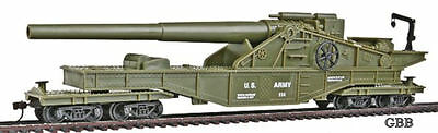 HO Scale US ARMY BIG GUN Train Car Model Power New in Box 99163