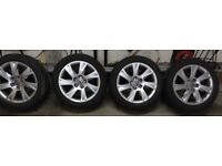 "17"" Audi alloy wheels with winter tyres"