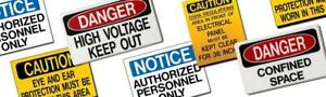 Safety Signs, Standard & Customized Signs, Custom Site Tags, Street Signs, Hard Hat Labels ** CREATE YOUR OWN SIGNS**