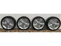 "Set 4 x Genuine BMW M-Sport 386 18"" Alloy Wheels + Tyres"