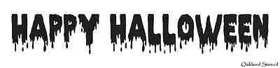 Happy Halloween Stencil (HALLOWEEN STENCIL**Happy Halloween** for signs crafts scrapbook)
