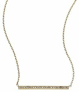 BRAND NEW MICHAEL KORS Gold-Plated Long Bar Necklace w/Crystals