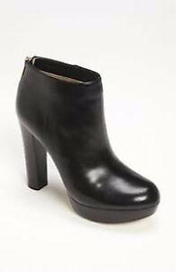 Michael KORS black leather ankle boots (7)