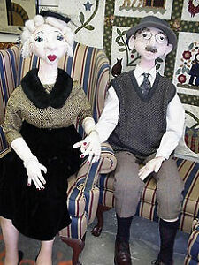Primitive-Folk-Art-Artist-Doll-Pattern-Mildred-and-the-professor-Life-Size