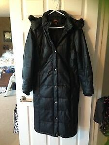 Danier full-length leather coat