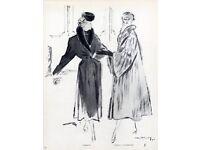 Vintage real Fur coats job lot x10