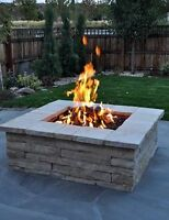 Adding a Fire Pit to your yard? We install natural gas lines!