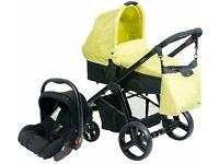NEW Carrycot Pram and Car Seat Travel System Red Kite