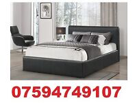 HQ DOUBLE LEATHER BED FRAME + FREE MATTRESS NOW ONLY