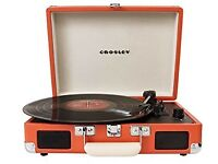 Crosley Cruiser 3 Speed Portable Vinyl Turntable Record Player *Orange*
