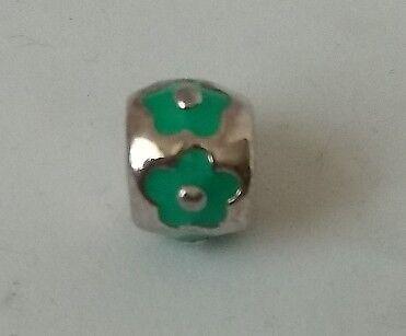 CHAMILIA. Abalorio charm plata de primera ley.Verde