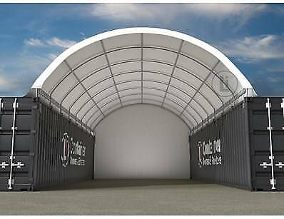 40ft Container Shelter/Dome with end wall