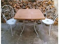 Lovely Vintage Iron Garden Table and Chairs