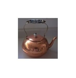 Birks Handcrafted Copper Kettle with Porcelain handle