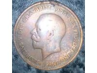 1933 one penny coin