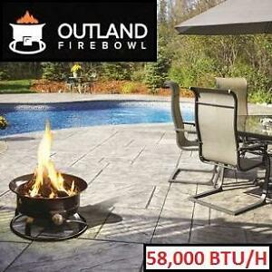 NEW OUTLAND PORTABLE FIREBOWL - 114520120 - PROPANE FIRE PIT