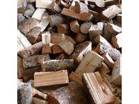 Dry seasoned logs
