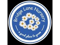 Nursery Nurse and Nursery Assistant required