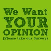Your OPINION matters so kindly participate