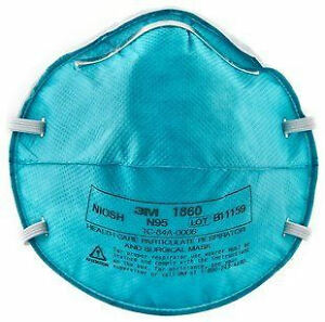 20x 3M 1860 N95 Health Care Respirator Surgical Mask, Cold, Flu,