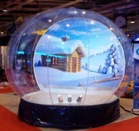 GIANT SNOW GLOBE ..ideal event photography opportunity