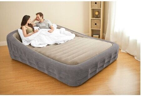 Intex Luxury Comfort Frame Queen Size Airbed with Electric ...